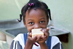 This young girl received free soap from @handinhandsoap during their recent soap drop in Haiti. Hand in Hand's Fair Trade Certified soap helps improve lives in Haiti by preventing water-related illnesses. Every time you buy a bar, one is given to a person in need. Buy a bar, give a bar! #FairTrade #Haiti #BuyABarGiveABar