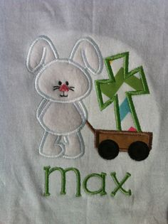 Easter Shirts  Easter Bunny Wagon with Cross by LaBarrieLittles, $24.00