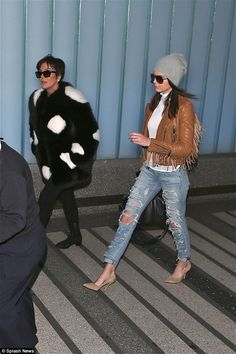 Centre of attention: The Kardashian matriarch stole the limelight from Kendall by sporting...