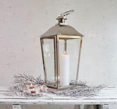 Za Za Homes stainless steel candle lantern - Stunning winter accessory - www.zazahomes.co.uk