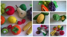 Овощи,фрукты и ягоды(из фетра) в каталоге Игрушки на Uniqhand - лошадка игрушки ручная работа, куколка детский праздник подарок для девочки фетровая игрушка фетр, повар пасха кулич куклы из фетра детская фетр, фетр