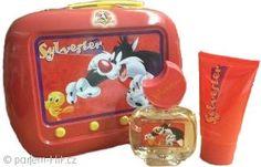 Looney Tunes Sylvester dárková sada 50ml EDT + 75ml sprchový gel + plechové pouzdro