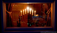 Norwegian Christmas Decorating - a 7 branch candleabra is a very common site in Norway at Christmas