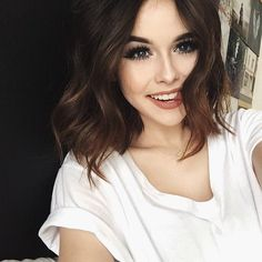 acacia brinley, beautiful, cute, hair, make-up, smile