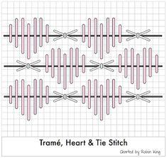 Tramé Heart & Tie Stitch