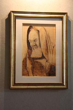 quadro su legno di Padre pio da Pietralcina