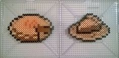 It seems one slice was enough. I changed the color scheme of the slice of pie so I thought I would add to it by making the pie itself. More Butterscotch-Cinnamon Pie Diy Perler Bead Crafts, Diy Perler Beads, Perler Bead Art, Pearler Beads, Fuse Beads, Undertale Pixel Art, Supernatural Crafts, Cinnamon Pie, Pearl Beads Pattern