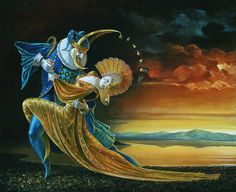 """Sunset Tango""  painting by Michael Cheval"
