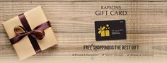 Take the guesswork out of gifting. Give friends and family the freedom to buy the best fashion this festive season with Kapsons Gift Card. For more details visit any Kapsons store. #Kapsons #BestFestiveGift
