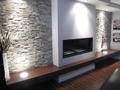 Living room grey, living room with fireplace, basement fireplace, fireplace Fireplace Tv Wall, Bedroom Fireplace, Modern Fireplace, Living Room With Fireplace, Fireplace Surrounds, Fireplace Design, Basement Fireplace, Media Room Design, Tv Wall Design