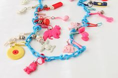 Li'l Buck's Creations: 80's Charm Necklace  80's toys
