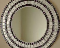 Azulejo de mosaico de vidrio hermosa cerámica hecha a mano | Etsy