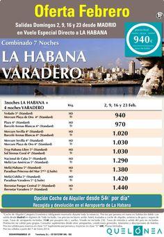 Oferta Febrero Combinado La Habana - Varadero desde 940€ tax incl. Salidas 2, 9, 16 y 23 de Feb ultimo minuto - http://zocotours.com/oferta-febrero-combinado-la-habana-varadero-desde-940e-tax-incl-salidas-2-9-16-y-23-de-feb-ultimo-minuto/
