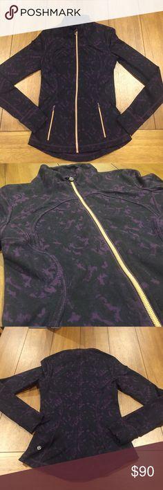Lululemon Jacket with Rose Gold Details Rare Lululemon full zip jacket in excellent condition with rose gold zipper detailing. Two front zip pockets. lululemon athletica Jackets & Coats