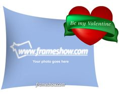 Be my Valentine photo frame.