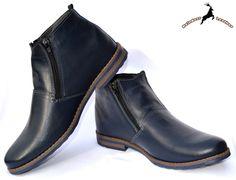 Feniks Blue Zip Boot