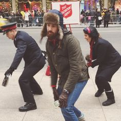 [video--press play] We are loving all of the new music and dance routines by @salvationarmyus this year. Tried hard to keep myself together when @tiesandfries jumped in to join them before donating. It was awesome.