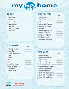 iMOM's HE home printable gives you an easy to follow schedule so you can have an easy to clean home!