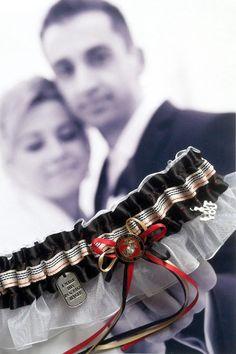 Handmade Marine Wedding Garter...Oorah by LeonoraB on Etsy, $30.00