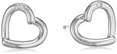Hot Diamonds Just Add Love Stud Silver And Diamond Earrings >>> Find out more about the great product at the image link. (This is an affiliate link) Diamond Earrings, Stud Earrings, Studs, Diamonds, Hot, Image Link, Silver, Amazon, Amazons