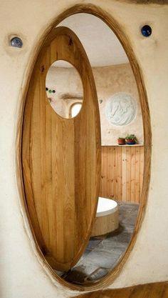 Yurt bathroom door?