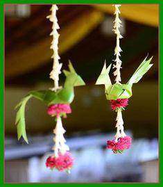 Beautiful Birds with flowers by Katha Weddings, Bangalore. Wedding Hall Decorations, Desi Wedding Decor, Diy Diwali Decorations, Marriage Decoration, Backdrop Decorations, Festival Decorations, Flower Decorations, Wedding Mandap, Wedding Receptions
