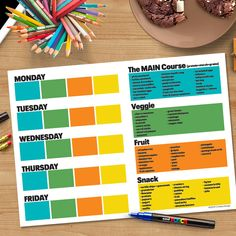 Kids Lunchbox Planner- Get your kids to help plan their own lunches and make better lunch decisions! Writeable & Wipeable with washable markers! Learning Fractions, Kids Planner, Printing Practice, Make Good Choices, Dry Erase Markers, Kids Learning, How To Plan, How To Make, Lunch Box
