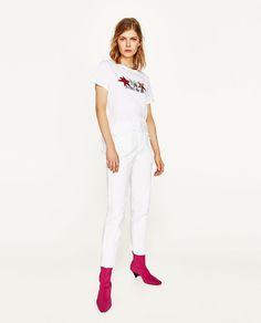Zara'dan 1  YAMALI T-SHIRT Resmi