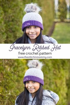 Gracelynn Ribbed Hat - Free Crochet Pattern | www.thestitchinmommy.com #furlscrochet #furlsbloghop