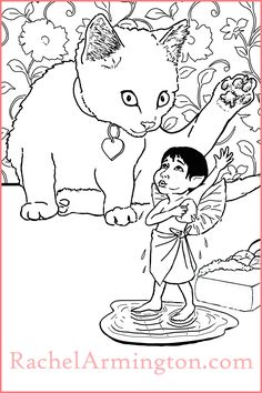 Coloring Page of Fairy and Kitten Friend Taking Baths from Fairy Kids and Kittens Coloring Book Coloring Books, Coloring Pages, Fairy Paintings, Cat Bath, Kittens, Cats, Bath Time, Vintage Coloring Books, Quote Coloring Pages