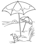 Coloring pages for summer camp classes.