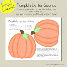 Pumpkin letter sounds song
