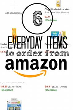 6 everyday items to buy on Amazon. Did you know you can get cheap high quality batteries? Body wash? Mascara?