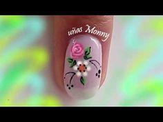 DISEÑO DE UÑAS CON FLOR Y ROSA FACILES/ UÑAS CON FLORES FACIL. - YouTube Print Tattoos, Nails, Diana, Youtube, Work Nails, Toe Nail Art, Tutorials, Finger Nails, Ongles