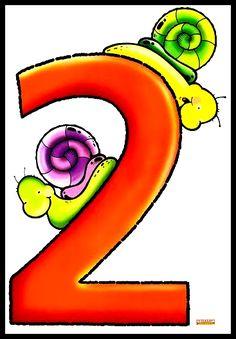 Números decorativos Educação Infantil