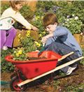 Kid's Wheelbarrow and Long-Handled Tool Set | Fun With Gardening