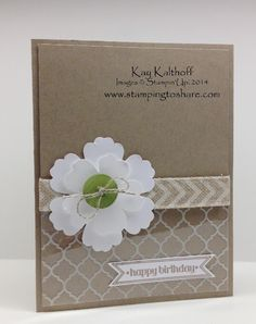 Stamping to Share: Quick, Easy, Elegant Floral Birthday Card with How To Video