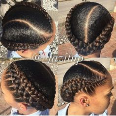 Cornrow Hairstyles Natural Hair, Cornrow Hairstyles 2017, Cornrolls Hairstyles Braids, Marley Hairstyles, Cute Short Natural Hairstyles, Braided Hairstyles For Black Hair, African Hairstyles For Kids, Corn Row Hairstyles, 2 Cornrow Braids