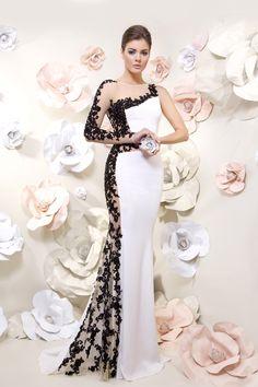 vestido de festa preto e branco - Pesquisa Google