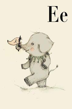 E for Elephant Art