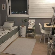 Uploaded by Nanna ナナ. Find images and videos about style, room and bedroom on We Heart It - the app to get lost in what you love. Tiny Bedroom Design, Small Room Design, Home Room Design, Small Room Bedroom, Bedroom Decor, Study Room Decor, Minimalist Room, Aesthetic Room Decor, Cozy Room