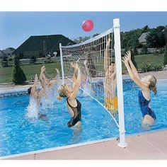 24' Deck Mounted Swimming Pool Volleyball Set Game Outdoor Sport Basketball Net Free Shipping, Sporting Goods :: Water Sports :: Other Water Sports :: Bullszi.com