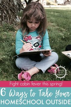 Spring is here. Instead of fighting it, take your homeschool outside and make the most of it. Get some fresh air and breathe new life into your homeschool. | embarkonthejourney.com via @letsembark