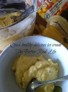 The better Real Life: Easy quick healthy ice cream, sugar free, no egg, no dairy