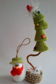 Christmas Tree crocheted Christmas Tree por SirikHandmade en Etsy