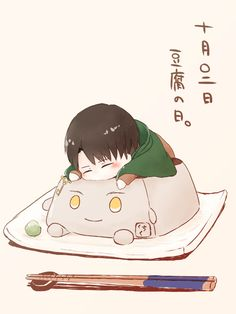 Levi chibi-Attack on Titan -Artist: http://touch.pixiv.net/member_illust.php?id=4329600