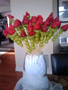 Edible roses...quick & no mess!