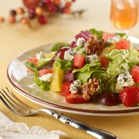Blue Cheese Watermelon Walnut Salad