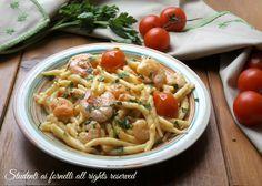 TROFIE CREMOSE GAMBERETTI E POMODORINI primo piatto facile e veloce, pasta cremosa con aggiunta di ..