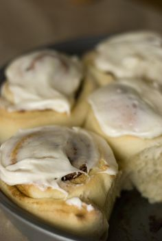 Bread machine cinnamon rolls... made these and they are fab!! Easy recipe. Icing makes more than enough. Yum!